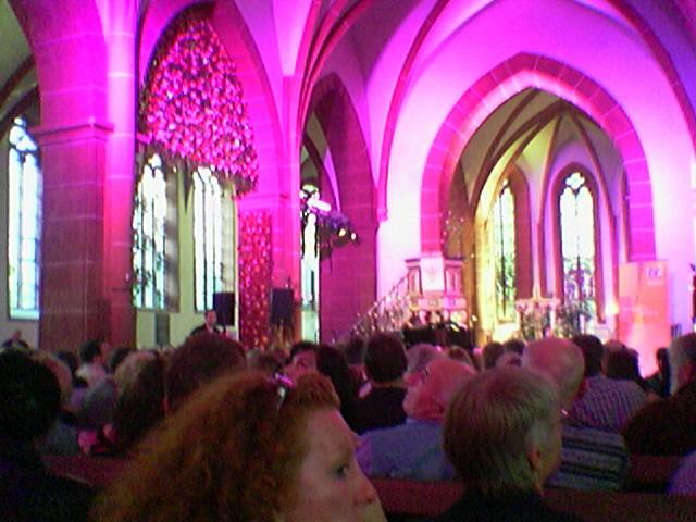 Markuskirche Butzbach Hessentag 2007, warten auf Klaus Hoffmann und Hawo Bleich